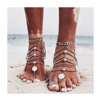 jewels chain silver summer beach fashion style freevibrationz