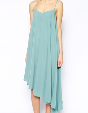 ASOS | ASOS Cami Swing Dress with Asymmetric Hem at ASOS