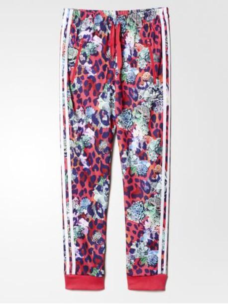 ea44694c24b6 leggings collard leggings printed pants leopard print joggers adidas adidas  tracksuit