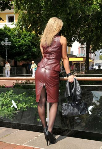 red leather leather dress leather top sexyinleather dress pantyhose