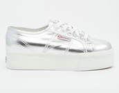 shoes,superga,metallic shoes,platform sneakers,grunge shoes,silver sneakers