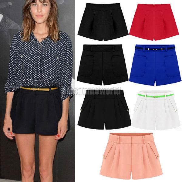 Hot designer womens ladies chiffon hot pants shorts