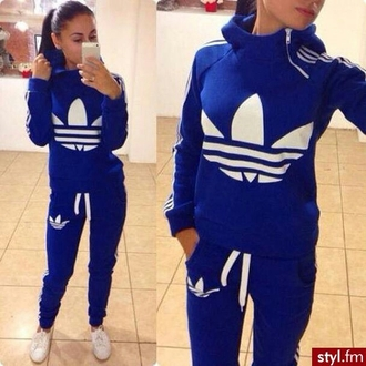 jacket blue adidas joggers sweatpants hoodie dope pants