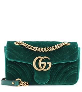 mini bag shoulder bag velvet green