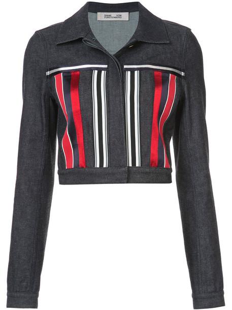 jacket cropped jacket denim cropped women cotton blue