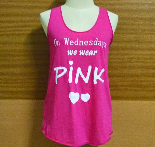 Shirts — Pink Tshirt on Wednesday we wear pink shirt sleeveless ...