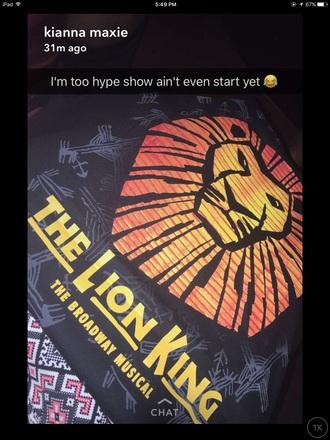 shirt lion king disney black instagram