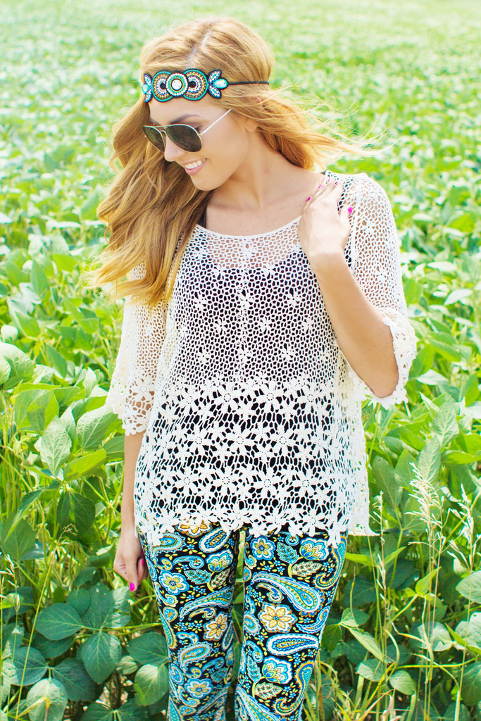 Floral Crochet Top | uoionline.com: Women's Clothing Boutique