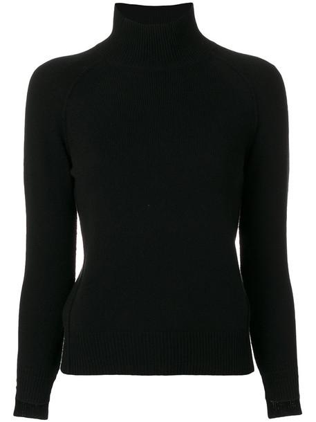 Helmut Lang - high neck jumper - women - Cashmere - S, Black, Cashmere