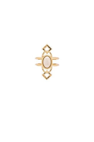 lady ring metallic gold jewels