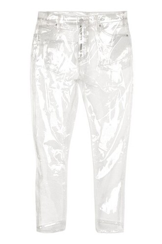 jeans clear plastic