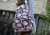 bag,backpack,flowers,nice,pretty little liars,travel,back to school,school bag,school.