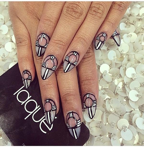 nail polish nail art nails black white dress white