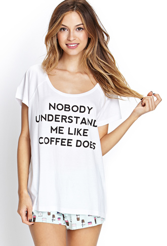 Coffee Understands PJ Set | FOREVER 21 - 2000087610