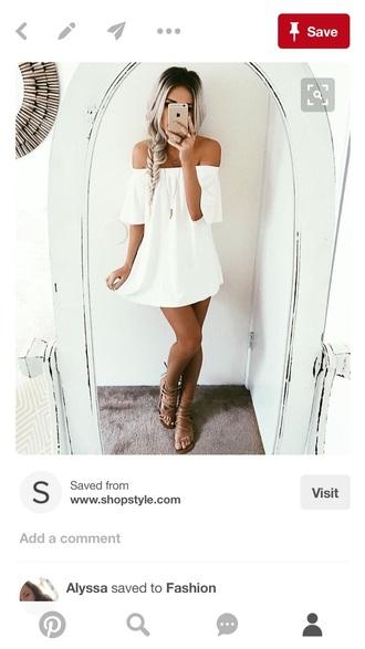 dress white off the shoulder dress white dress summer dress