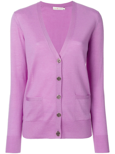 Tory Burch cardigan cardigan women purple pink sweater