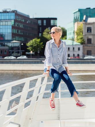 gvozdishe blogger shirt jeans sunglasses jewels shoes