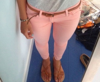 jeans light pink coral skinny pants skinny jeans style pink