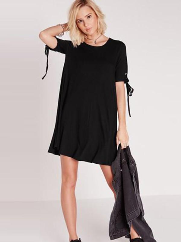 dress chiclook closet black black dress fashion chic trendy style mini dress cute