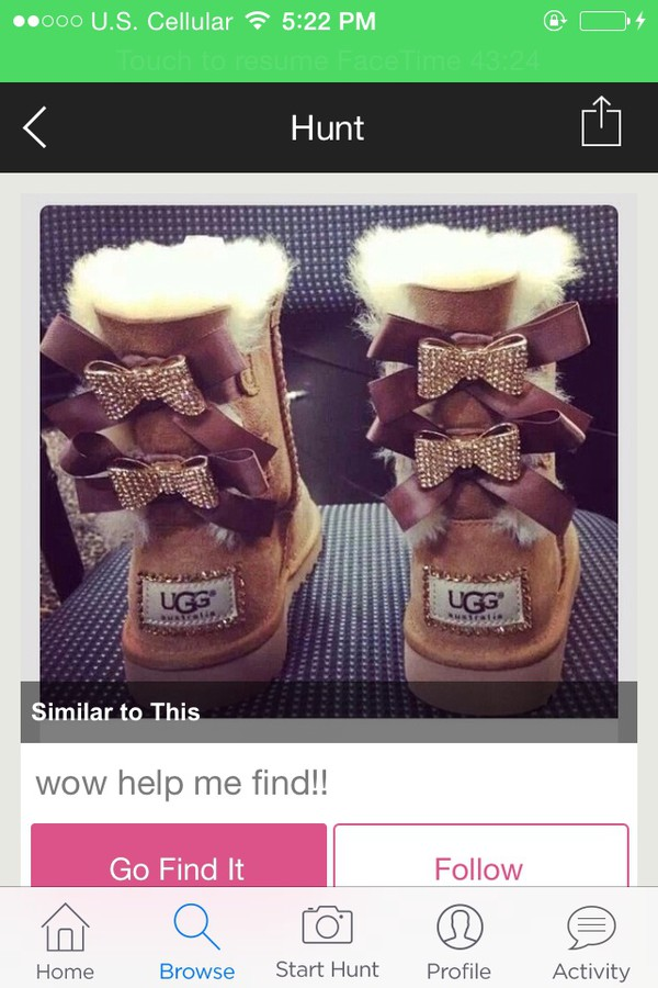 shoes ugg boots bows fur brown