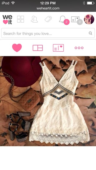 dress white dress cute dress summer dress fashion tumblr outfit