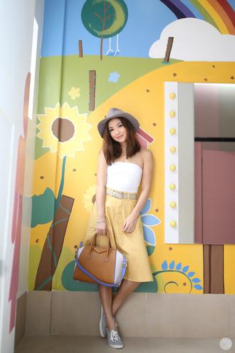 kryzuy blogger top hat shoes skirt bag