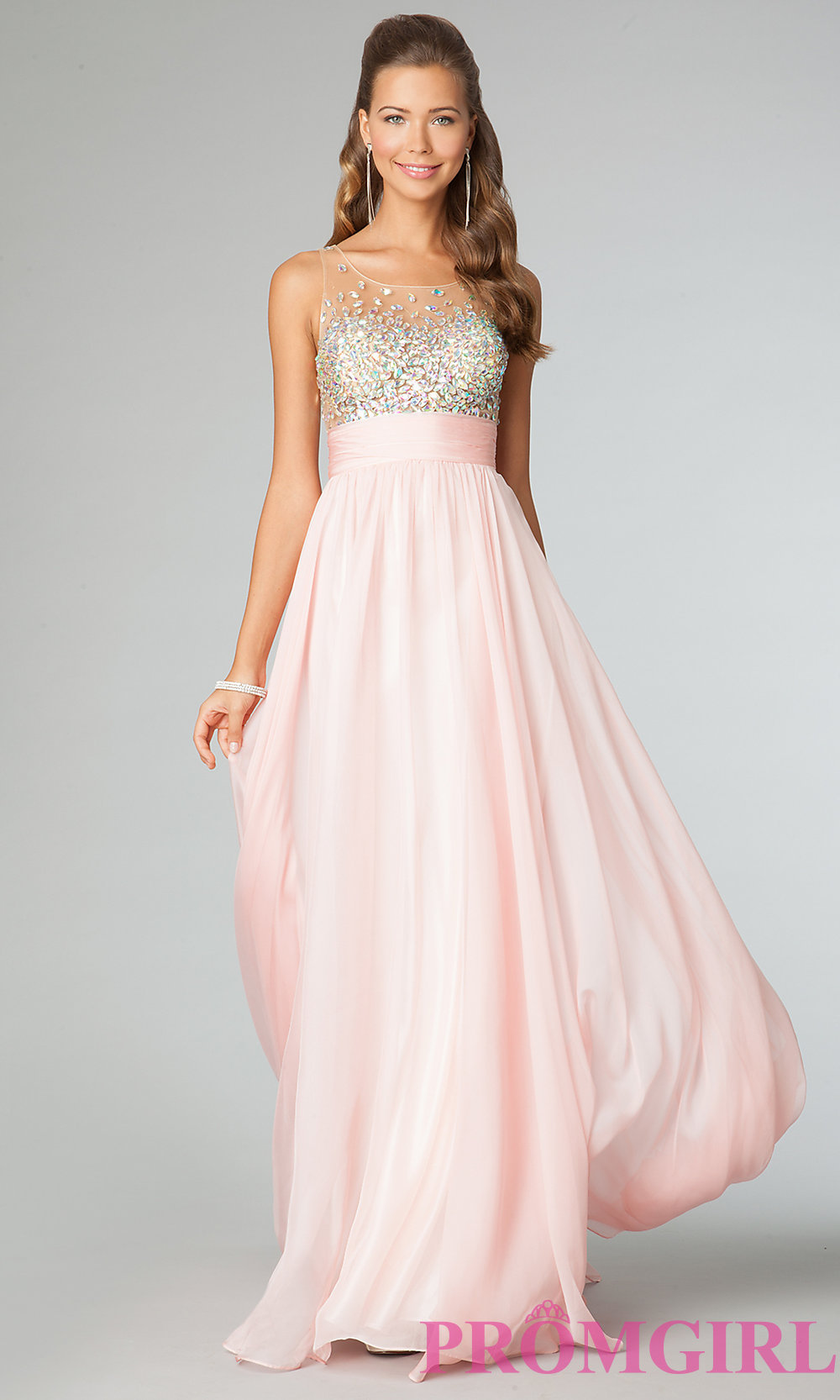 Sleeveless Beaded Prom Gown JVN by Jovani