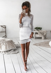 dress,dream it wear it,white,white dress,little white dress,mini,mini dress,crochet,crochet dress,lace,lace dress,white lace,white lace dress,long sleeves,long sleeve dress,bodycon,bodycon dress,party dress,sexy party dresses,sexy,sexy dress,party outfits,sexy outfit,summer dress,summer outfits,spring dress,spring outfits,classy dress,elegant dress,cocktail dress,cute dress,girly dress,date outfit,birthday dress,clubwear,club dress,homecoming,homecoming dress,graduation dress,wedding guest,wedding clothes,prom,prom dress,short prom dress,white prom dress,formal,formal dress,formal event outfit,romantic,romantic dress,romantic summer dress,summer holidays,holiday dress,holiday season,white skirt,skirt