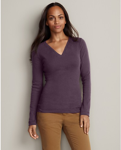 Favorite Long-Sleeve V-Neck T-Shirt | Eddie Bauer