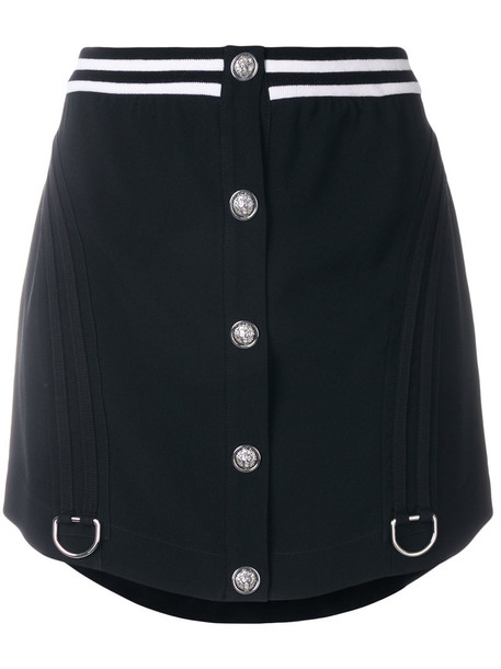 Versus skirt buttoned skirt women black