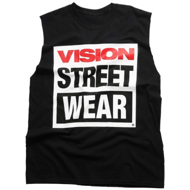 Sleeveless Logo T-Shirt- Black - Apparel - Women's | Vision Street Wear