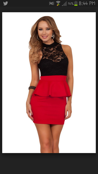 fitted dress red dress