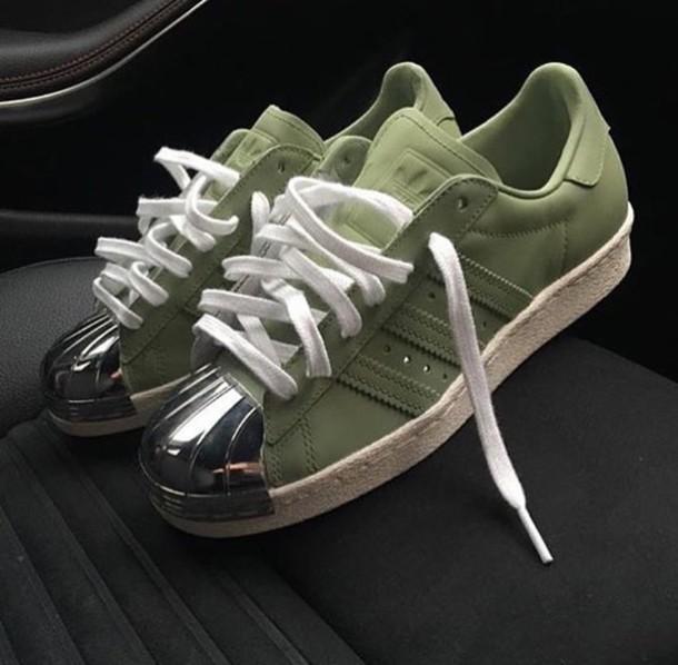 détaillant en ligne b067f 730d5 Adidas Superstar Kaki Bout Metal ChaussureAdidasonlineoutlet.fr