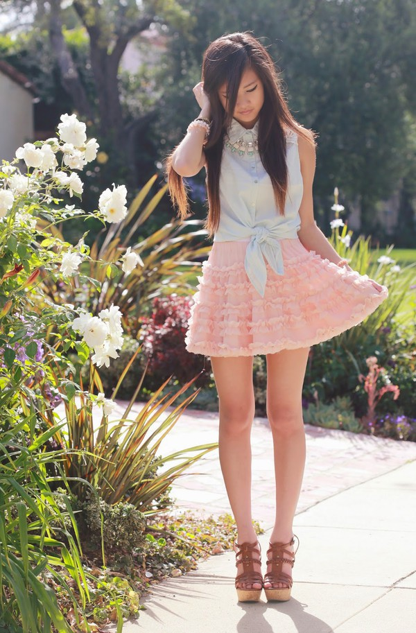 a flower child skirt jewels shoes