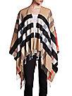 Burberry - Collette Merino Wool & Cashmere Check Cape