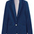 Lapel Cotton Suit - Blue