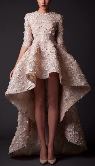 dress prom high low dress