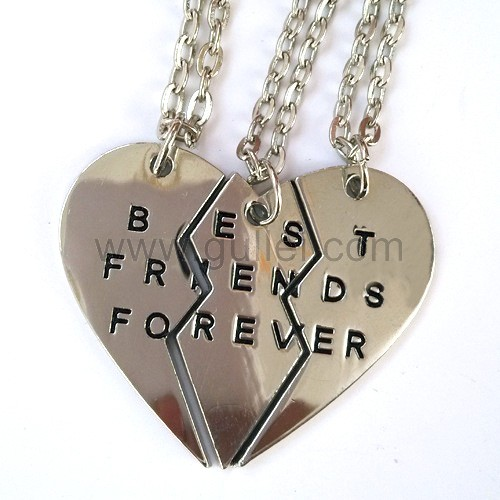 Personalized friendship necklaces jewelry set for 3 for Couples matching jewelry sets