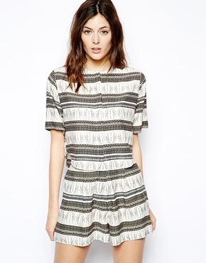 ASOS | ASOS Blouse with Curved Hem in Giraffe Stripe at ASOS