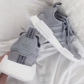 shoes,adidas nmd,adidas,grey