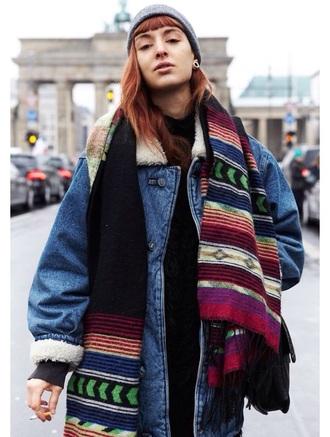jacket scarf hat accessories dark grunge fashion 90s style 80s style style hippie accsesorize