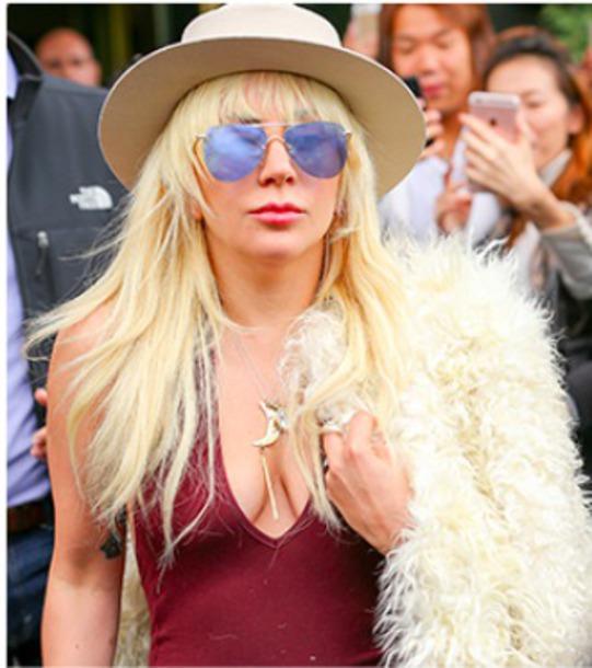 sunglasses worn by lady gaga lady gaga aviator sunglasses mirrored sunglasses mirrored aviators lady gaga sunglasses i want it blue sunglasses affordable sunglasses frameless sunglasses