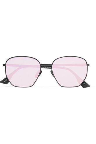 metal sunglasses mirrored sunglasses black