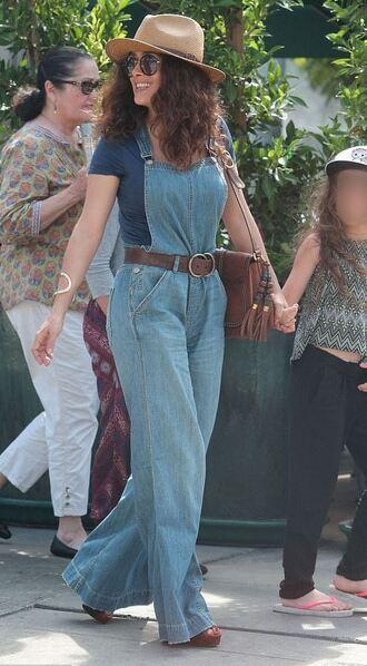 jeans denim overalls overalls salma hayek