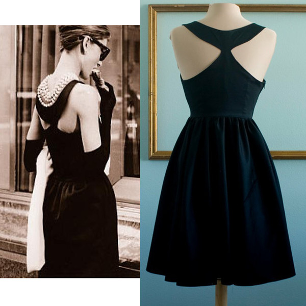 50s style black dress party dress prom dress retro dress vintage dress 50s style black party classic dress audrey hepburn