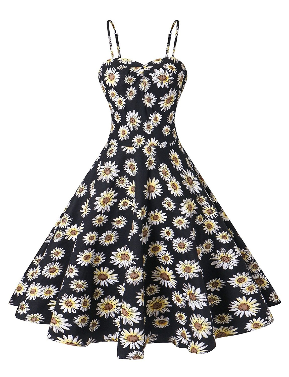 fb5d03aea700 VOGTORY Women s Plus Size Summer Floral Sleeveless Strappy ...