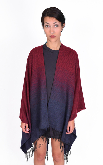 top ombre fringes cape sweater cardigan fall outfits cozy cute burgundy soft jacket poncho poncho sweater dip dyed ponchos