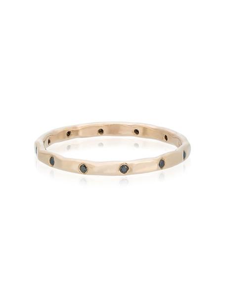 women ring wedding ring gold black grey metallic jewels