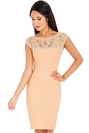 EmbellishedNeck Dress