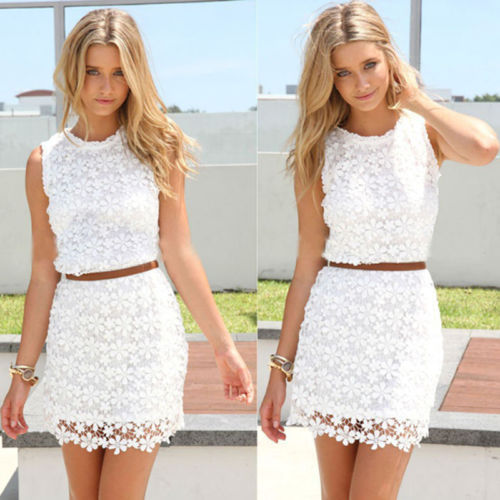 New sexy women fashion casual lace celeb croset summer beach club mini dress